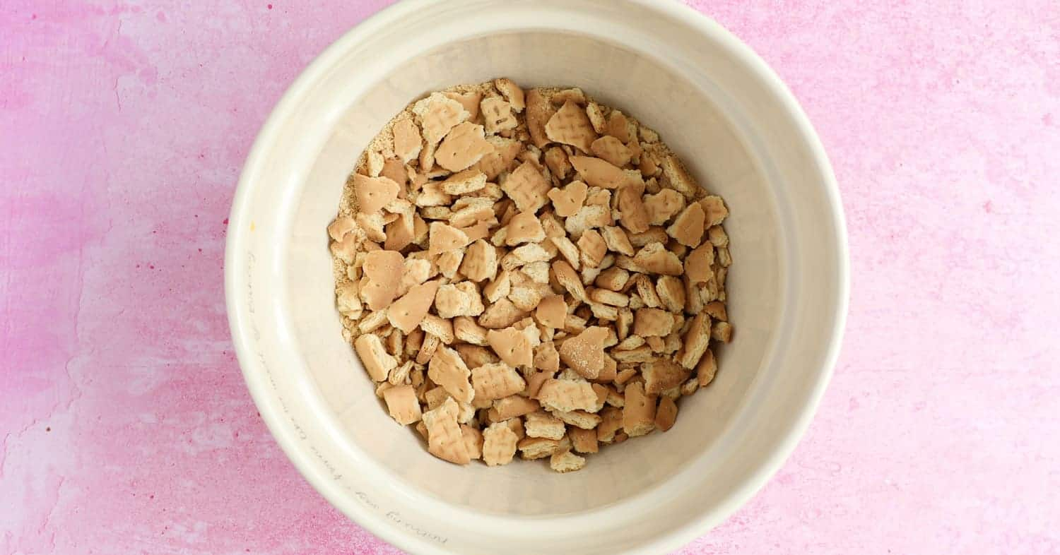 A bowl full of crushed rich tea biscuits