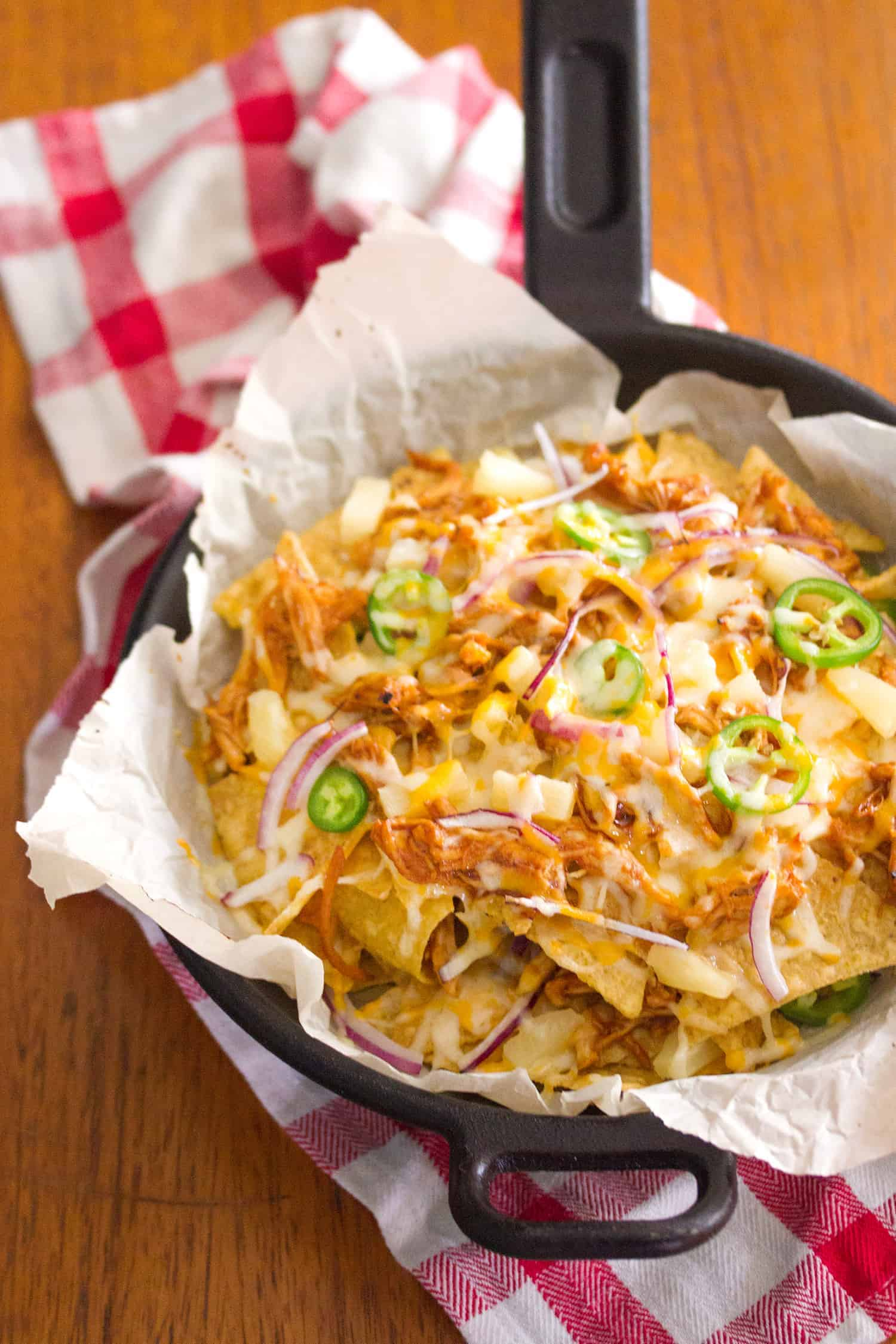 Hawaiian Barbecue Chicken Nachos