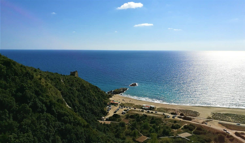 Punta del Telegrafo la spiaggia di torre del telegrafo ad Ascea marina il cilentano cilento