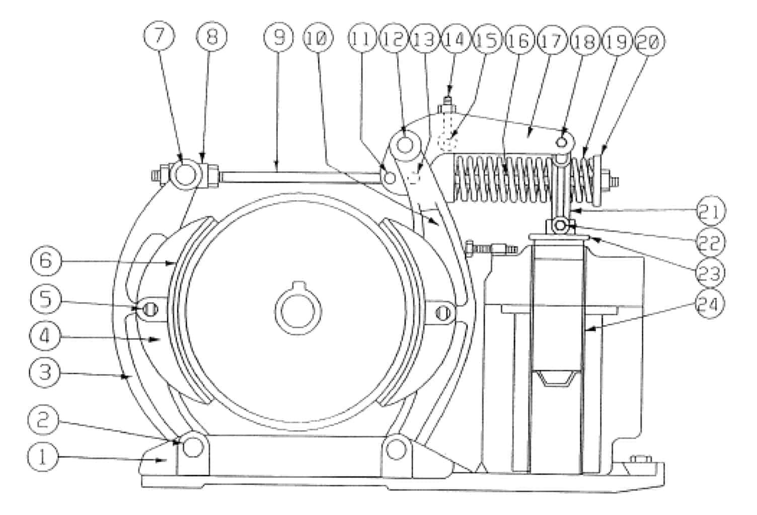 TYPE DI 062-F MAGNETIC BRAKE