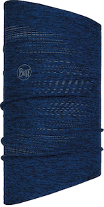 Buff's dryflx neck warmers are small, warm and offer sun protection for fall and spring hiking and rock climbing.