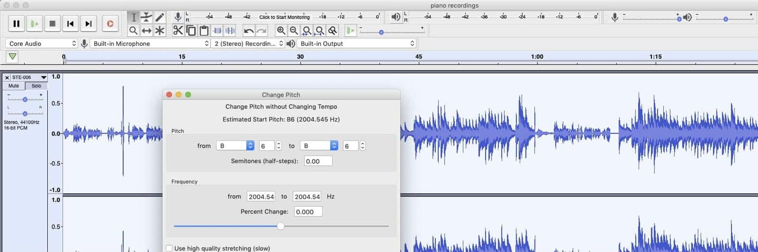Change Tempo and Pitch of CD or MP3