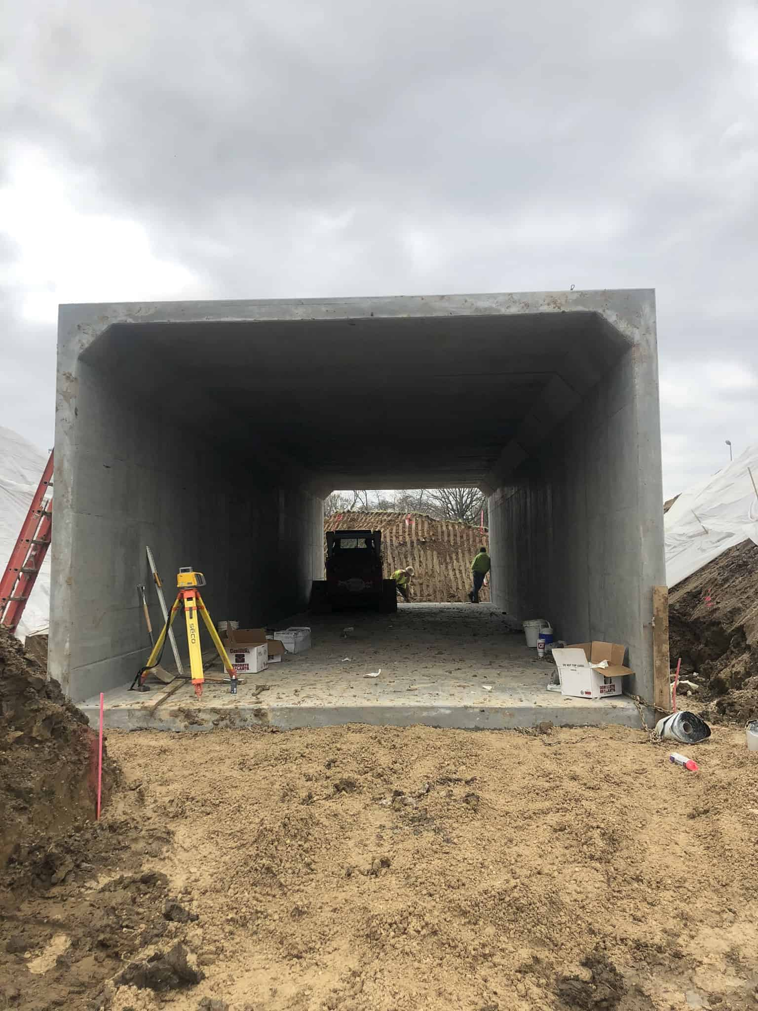 Great Rivers Greenway Pedestrian Underpass by Wieser Concrete