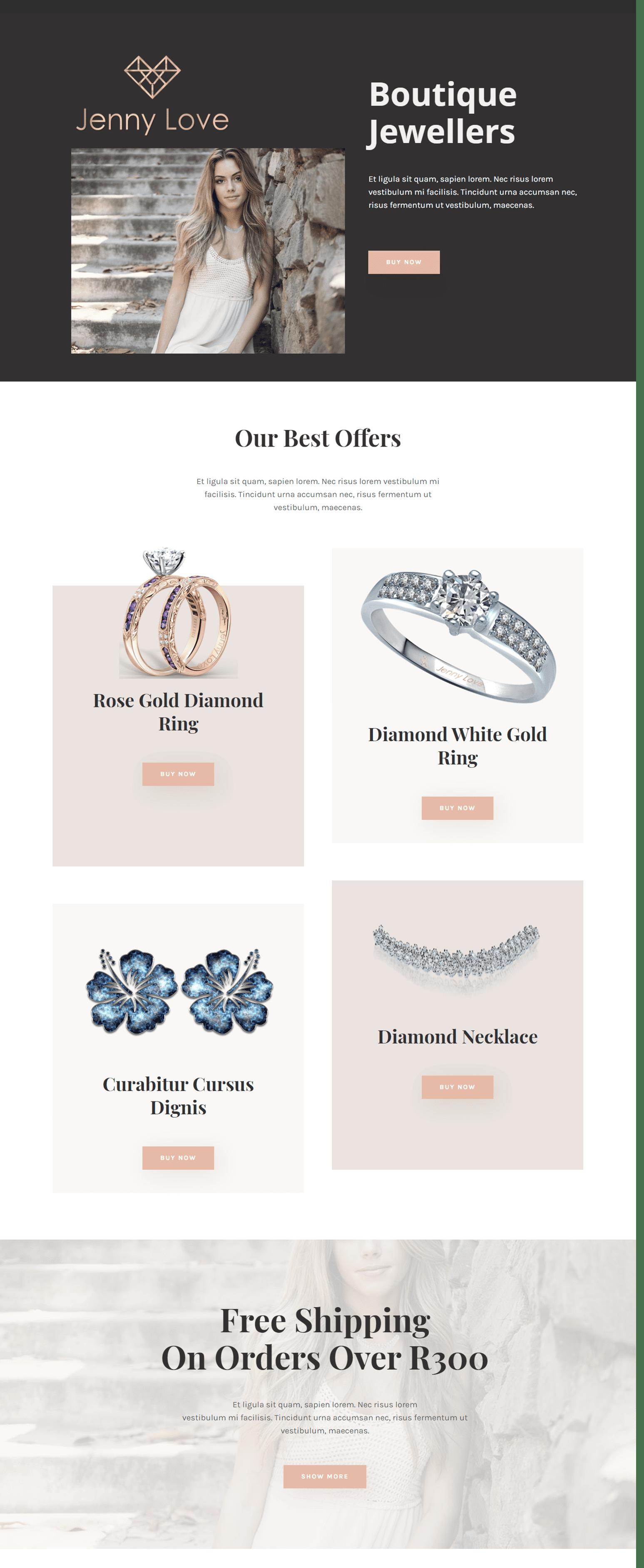 Jewellery Website Design