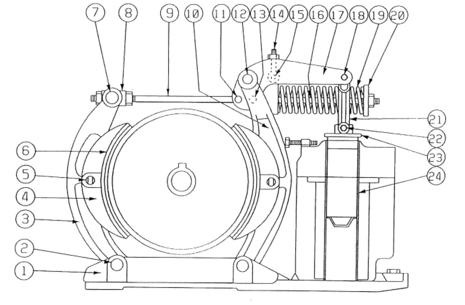 TYPE DI 167-F MAGNETIC BRAKE