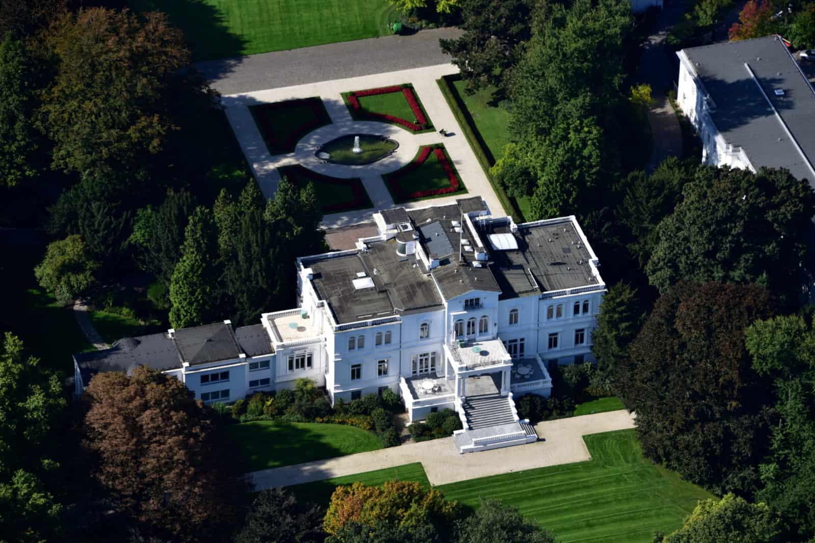 Villa Hammerschmidt Luftaufnahme