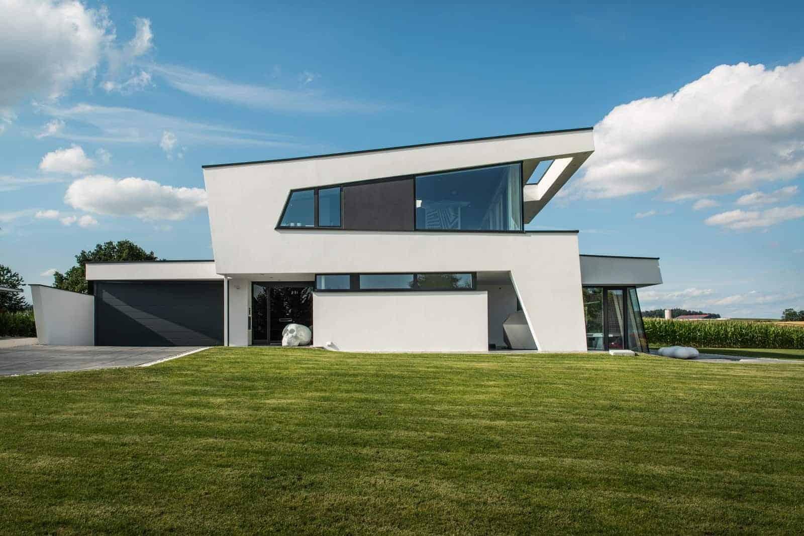 Architektenhaus Pultdach modern