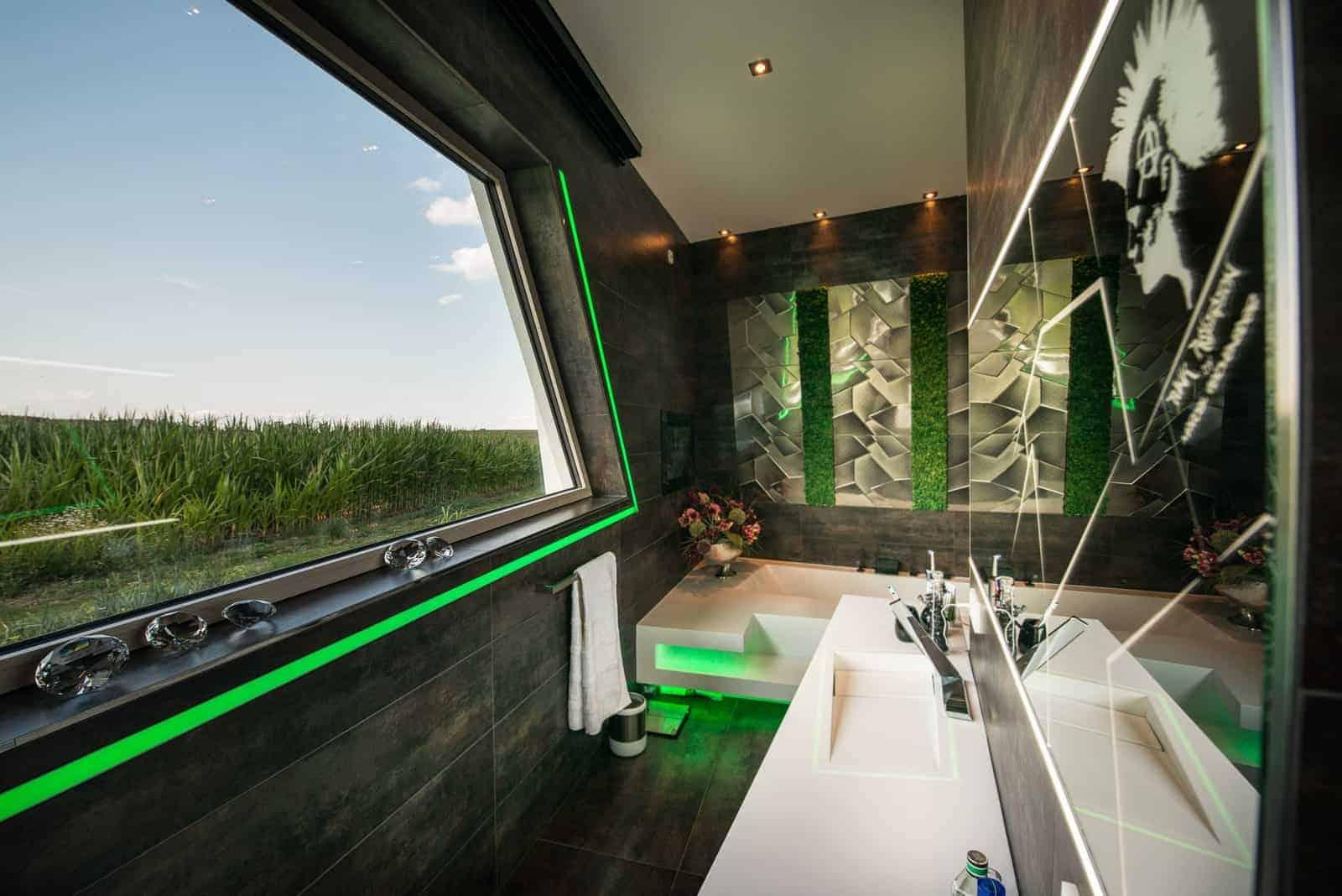 futuristisches Badezimmer