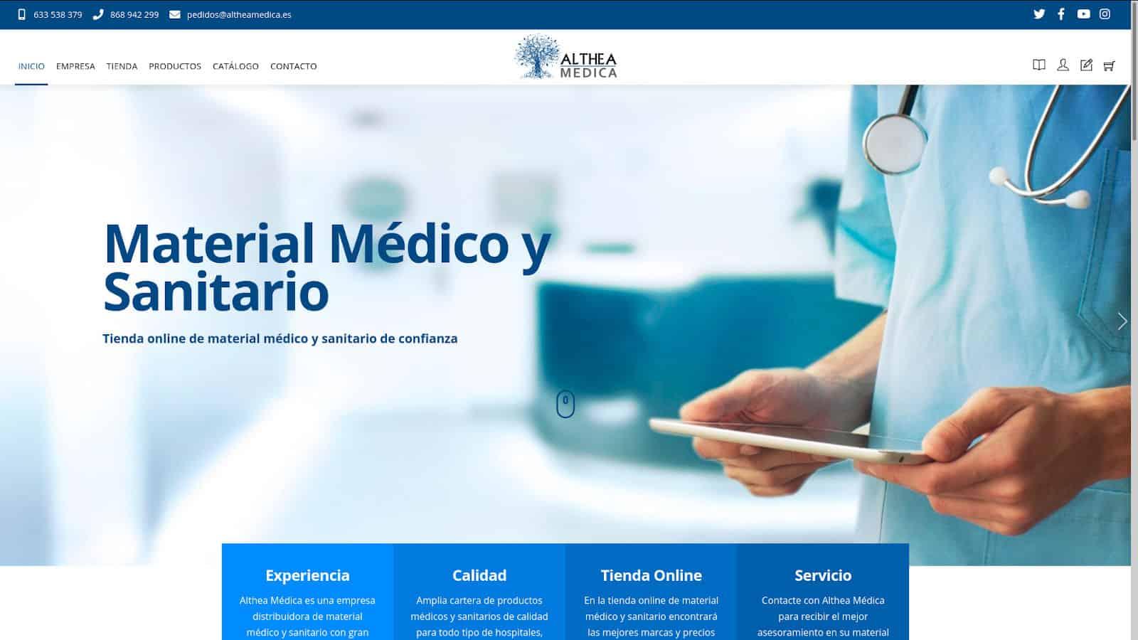 Diseño web en Murcia. Althea Medica Tienda online de material médico y sanitario