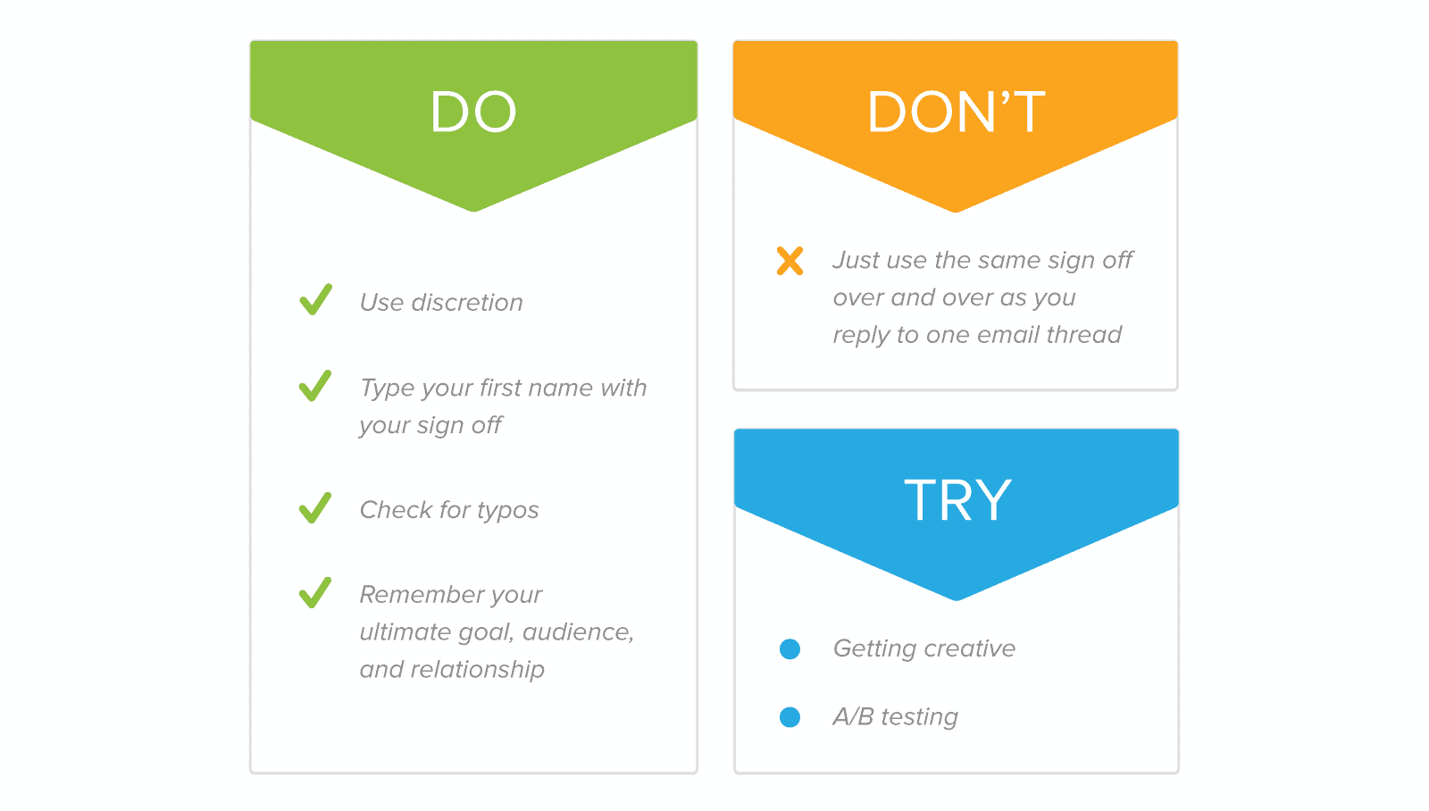 how to end an email what to do and what to avoid