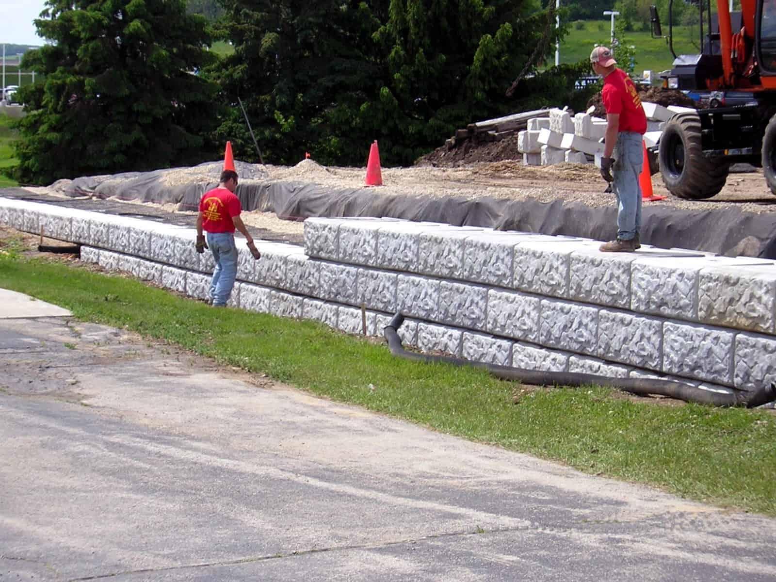 Resource Engineering Associates London Boulder Retaining Wall by Wieser Concrete