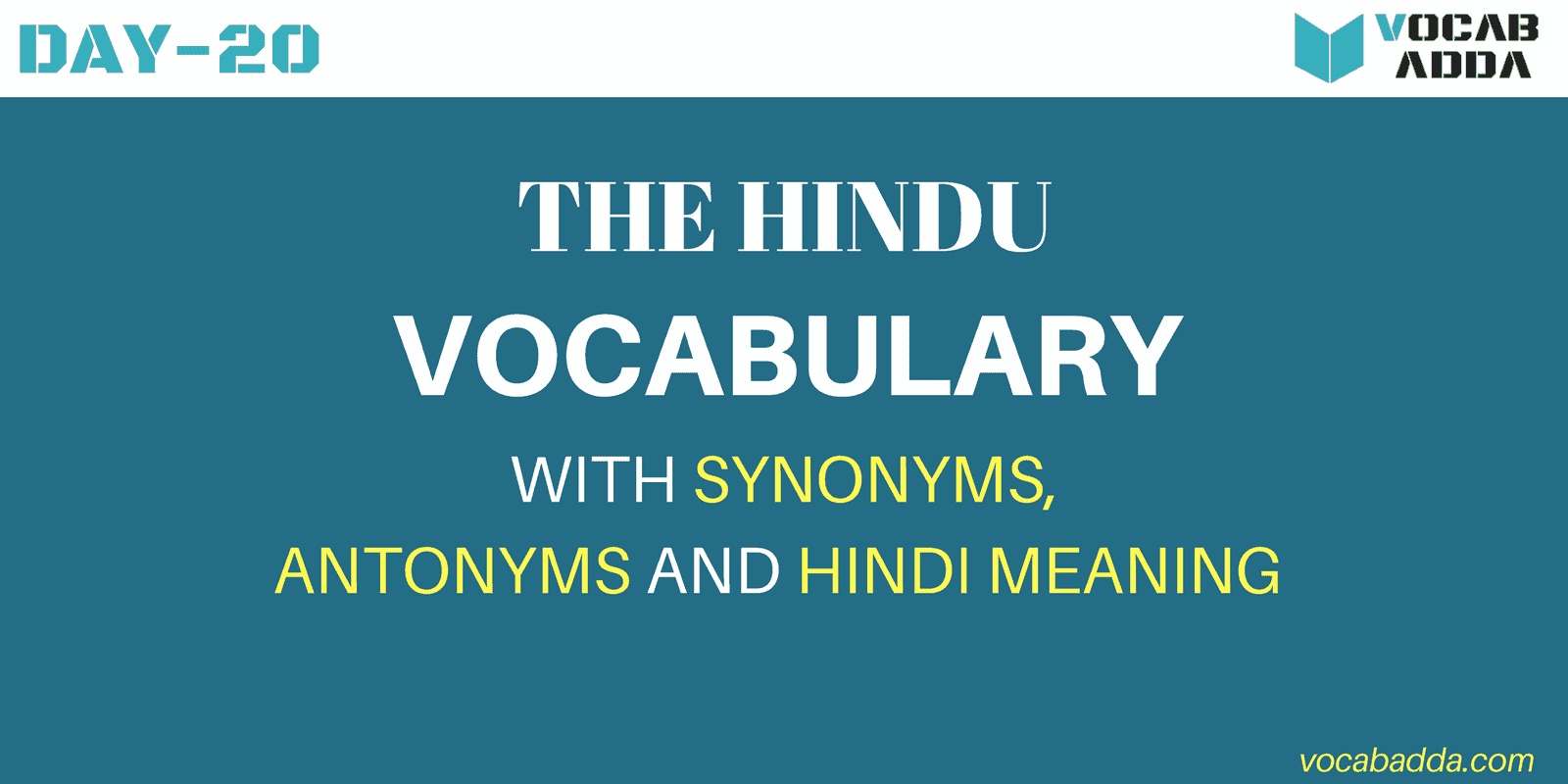 Hindu Vocabulary Day-20