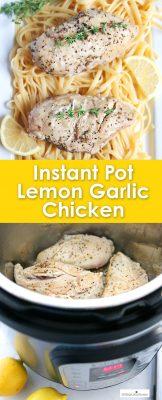 Instant pot lemon garlic chicken breast