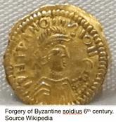Solidus Goldmünze Fälschung