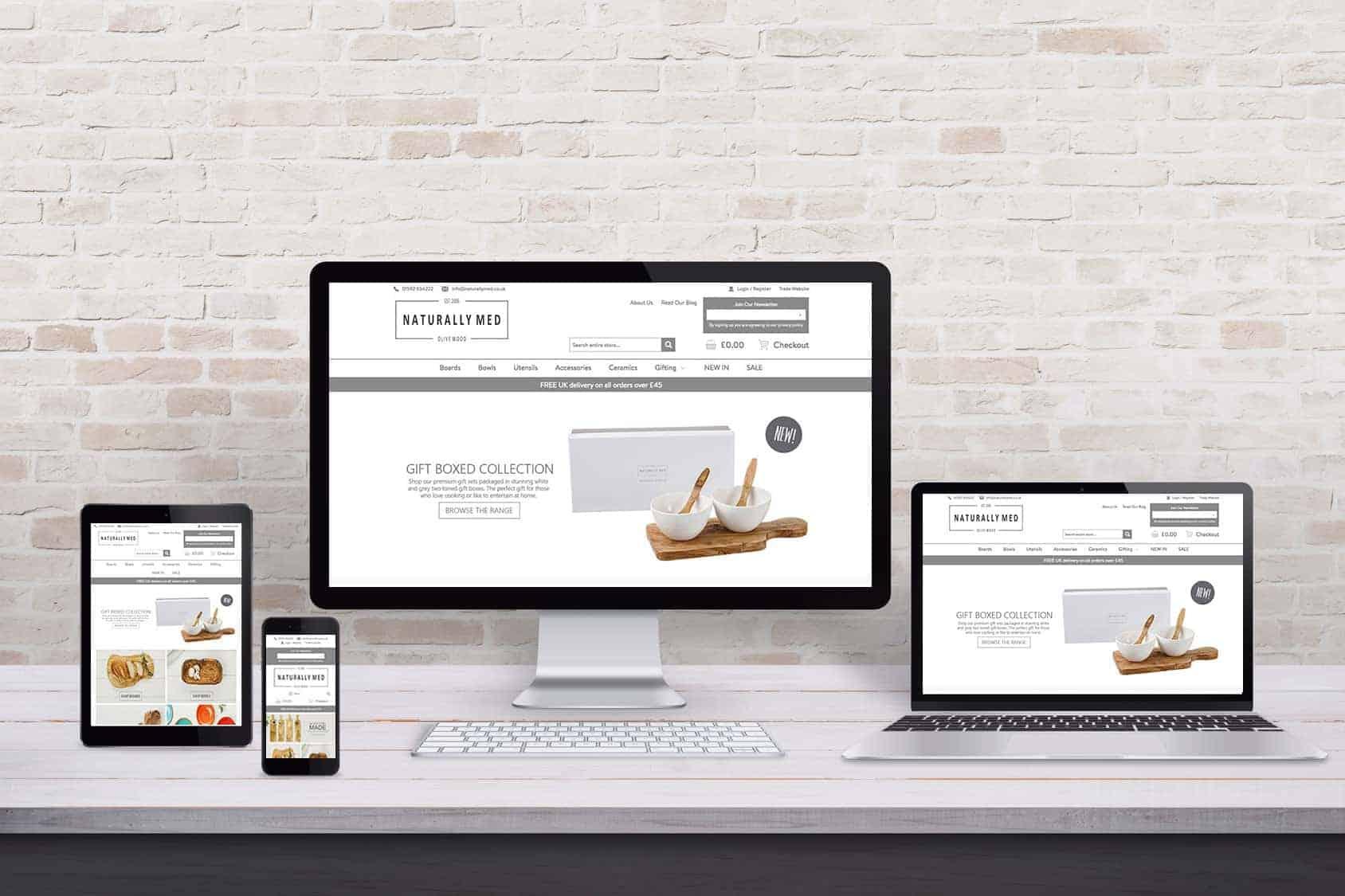 Naturally Med website design in Glasgow