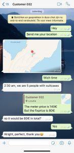 Whatsapp taxi service