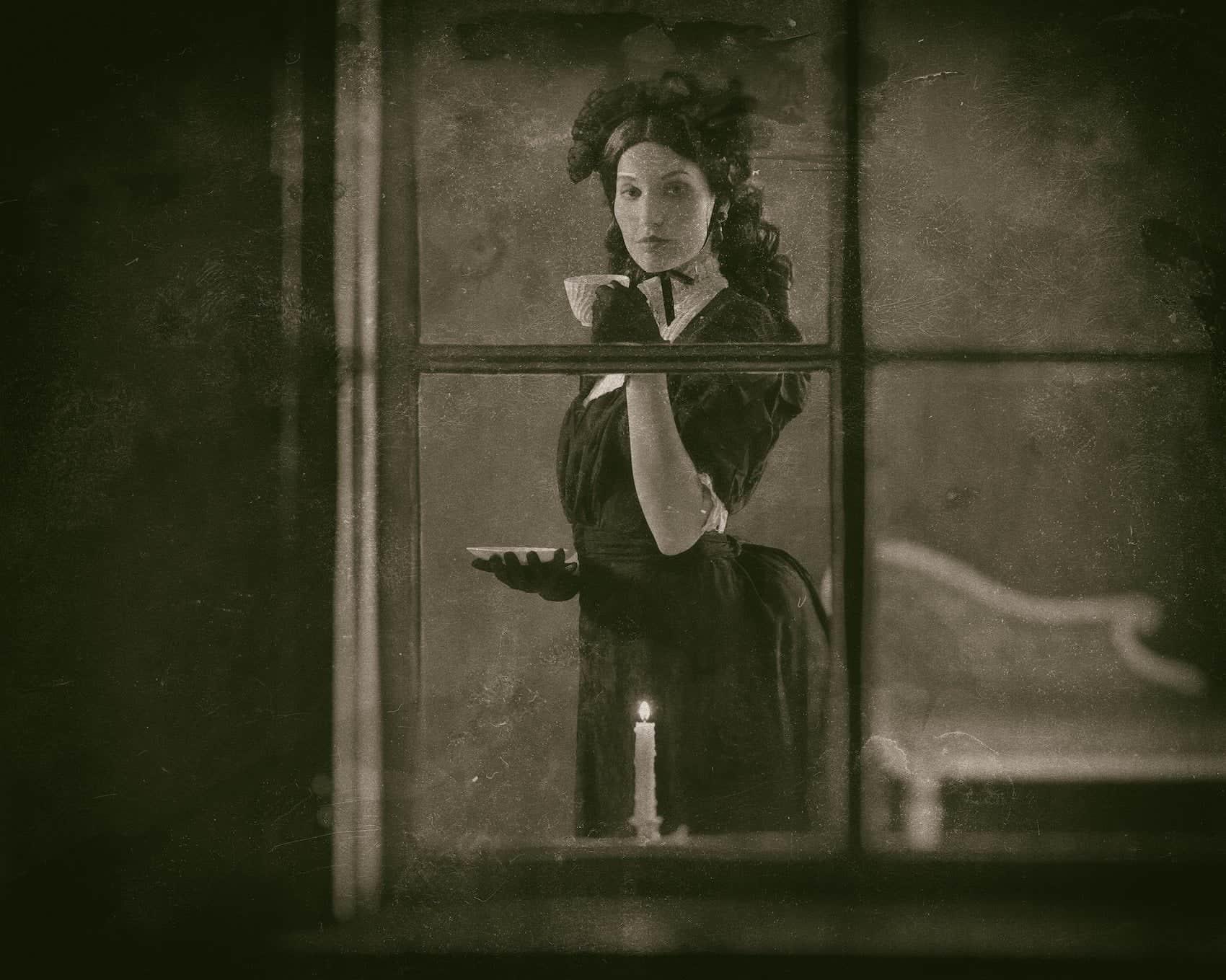 Portrait of Lavinia-Fisher. Scariest Charleston ghost tour