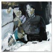 """originales Ölgemälde """"Beziehungen"""" von M. Plaickner"""