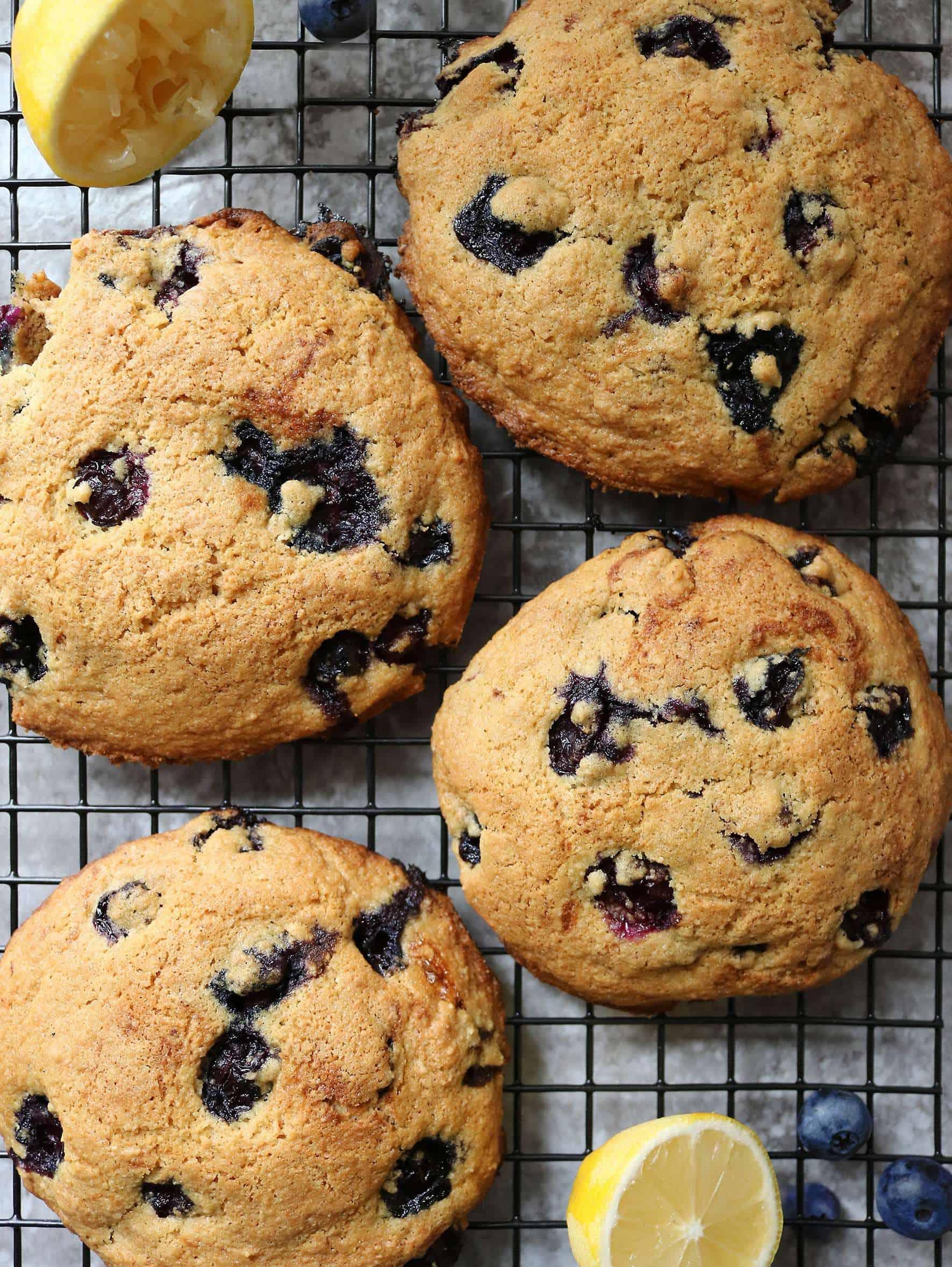 Gluten Free Lemon Blueberry Muffin Tops Image