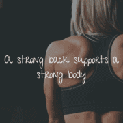 back strengthening exercise