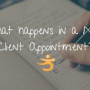 What happens in a new client appointment?