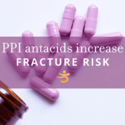 Fracture risk increased by PPI antacids