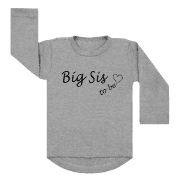 Shirt Big Sis To Be grijs