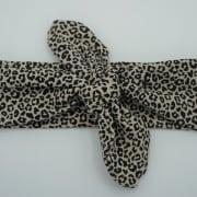 Wrap haarband tiny leopard