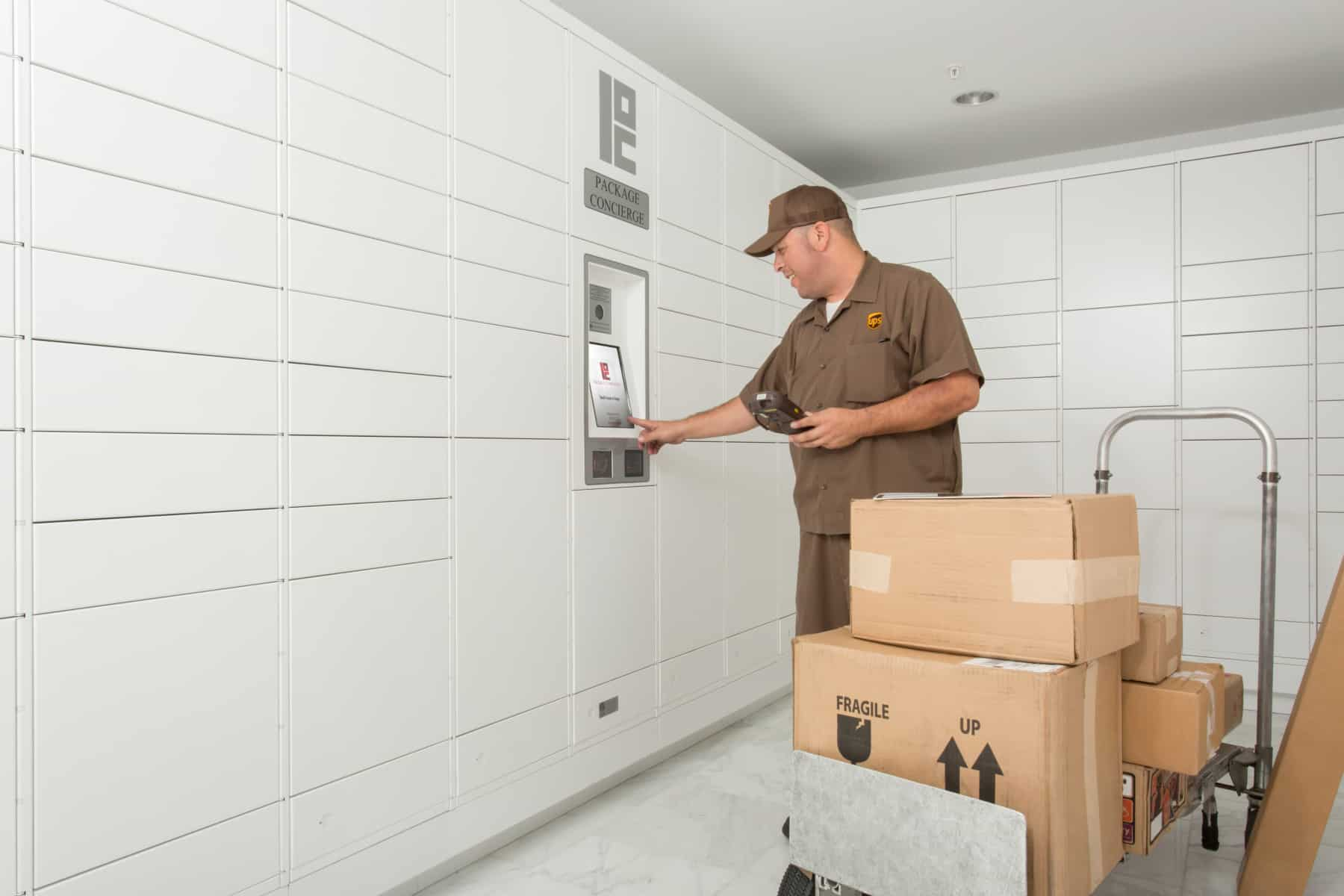 UPS Delivering to Package Concierge