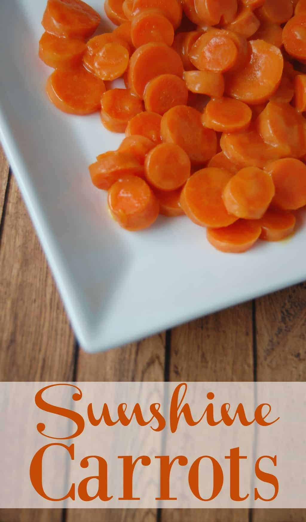 Sunshine Carrots - kid friendly, grain free, sugar free, and dairy free! Most people love the tartness of orange juice with the hint of sweetness that covers these carrots and even kids are no exception! #carrots #orange #ginger #sidedish #kidfriendly #healthyfood