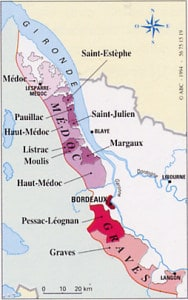Bordeaux Wine Region Map Left & Right Bank | Winetraveler.com
