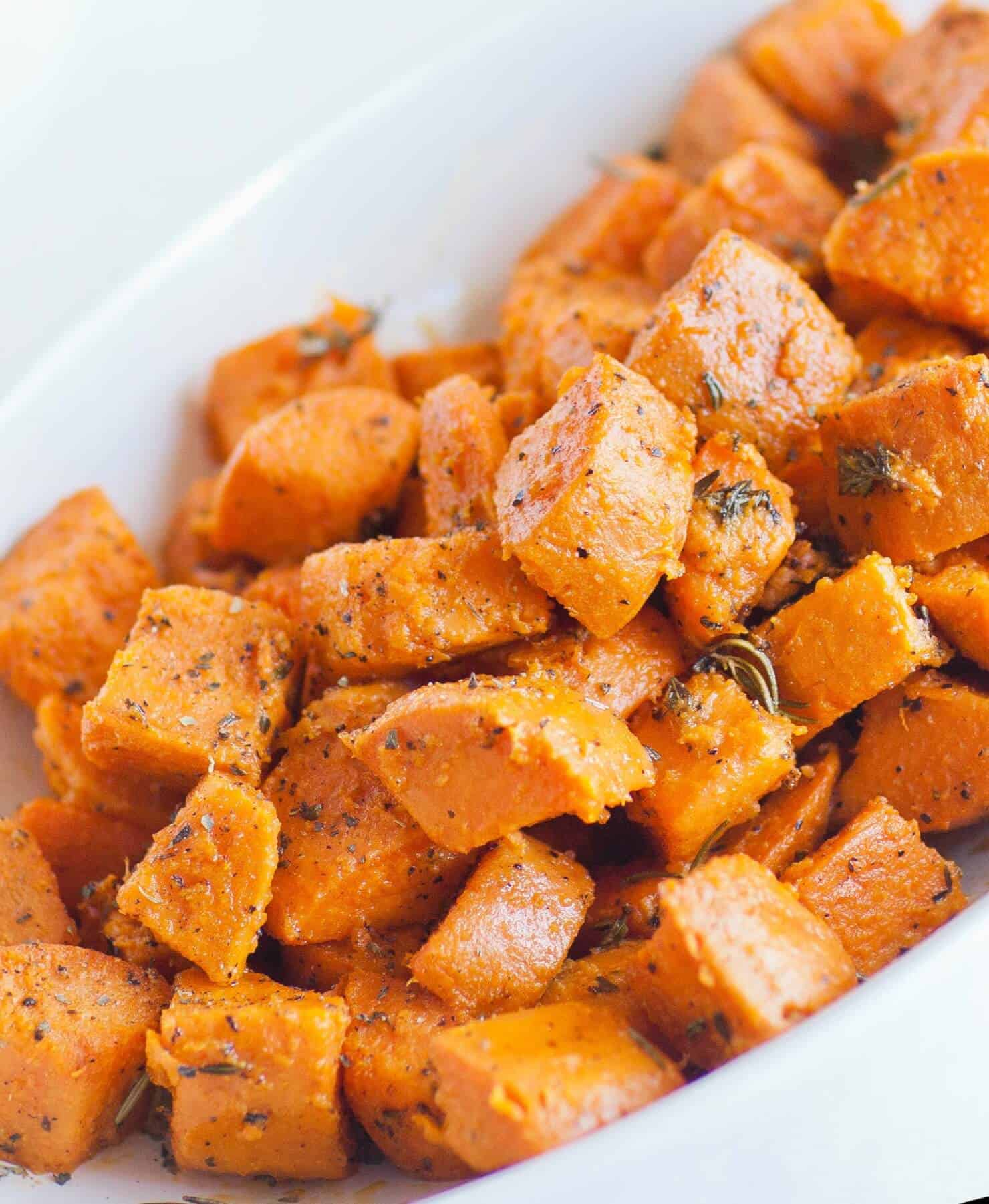 oven roasted sweet potatoes side dish recipe