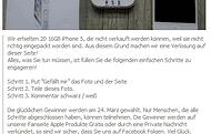 Achtung Facebook Fake - Apple Produkte Gratis