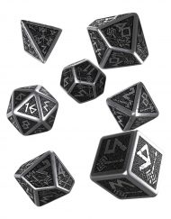 Polydice Set Q-Workshop Metal Dwarven Dice