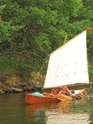 drop in sailing rig to convert a canoe to a sailboat - storer boat plans