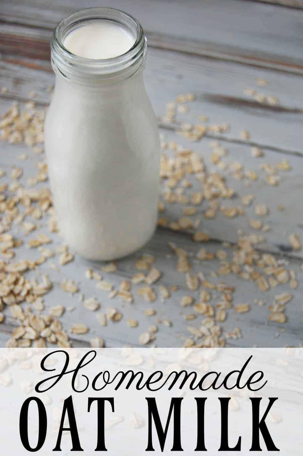 Homemade oat milk is a dairy free, nut free, gluten free milk alternative! Store bought organic oat milk costs about $0.83/cup. Homemade organic oat milk comes to around $0.16/cup. Talk about cheap! #oatmilk #nondairymilk #nutfree #dairyfree
