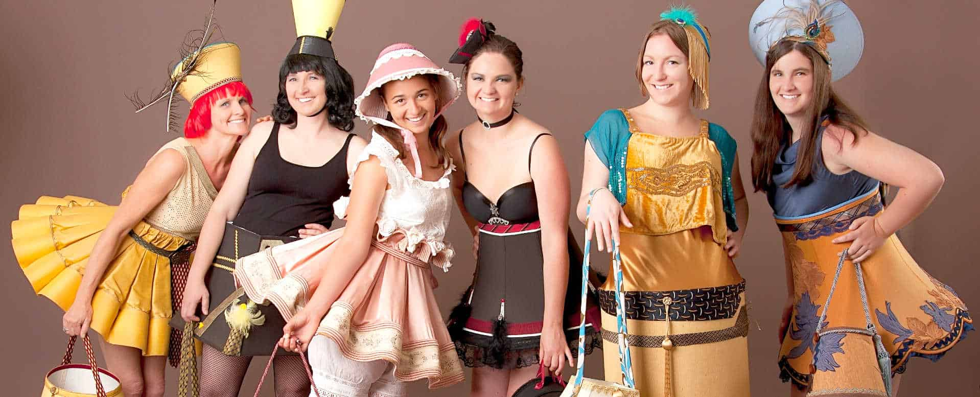 The Lampshade Ladies roving character costumes
