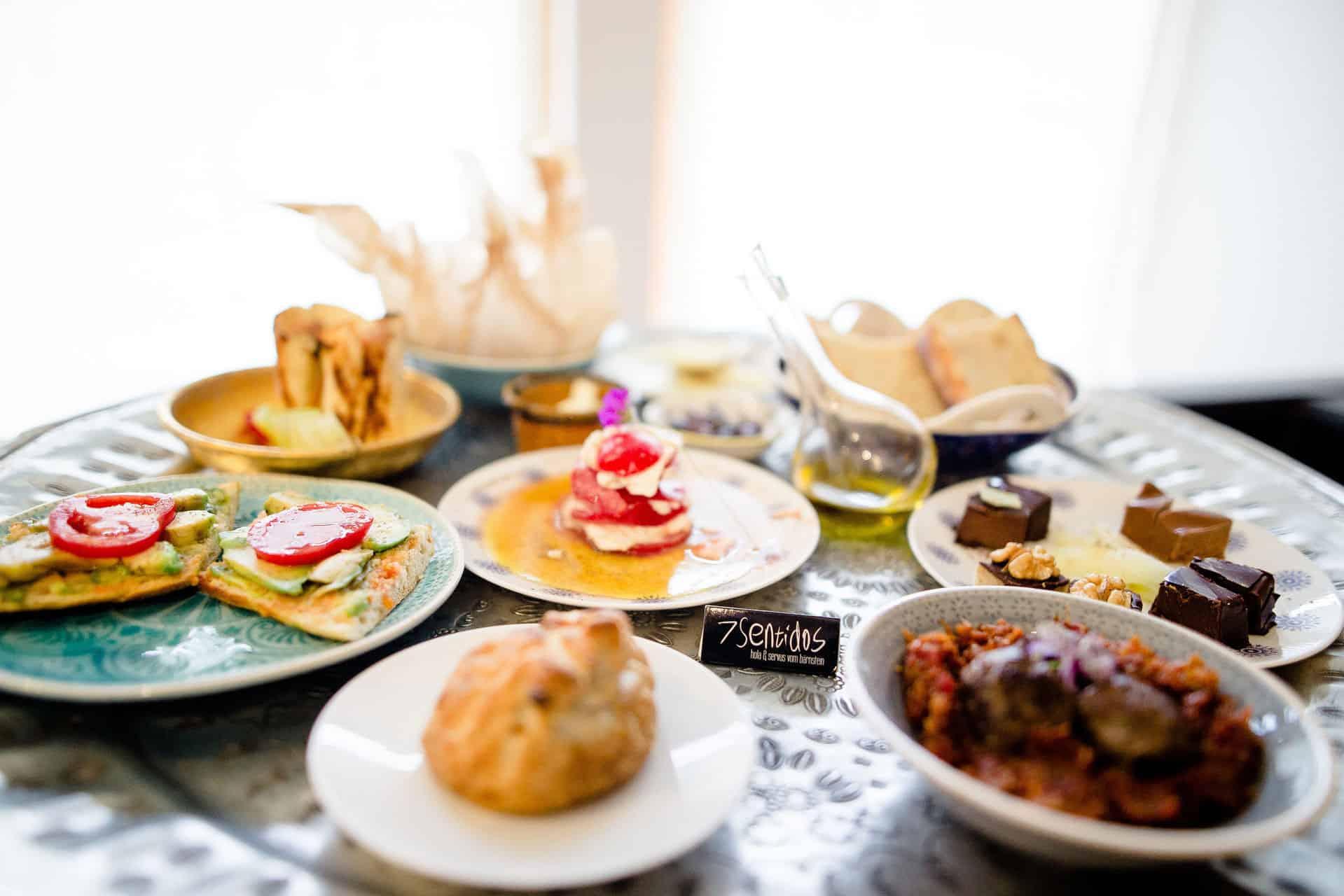 Vegetarisches Gourmet Frühstück im 7 Sentidos © Bio Hotel 7 Sentidos