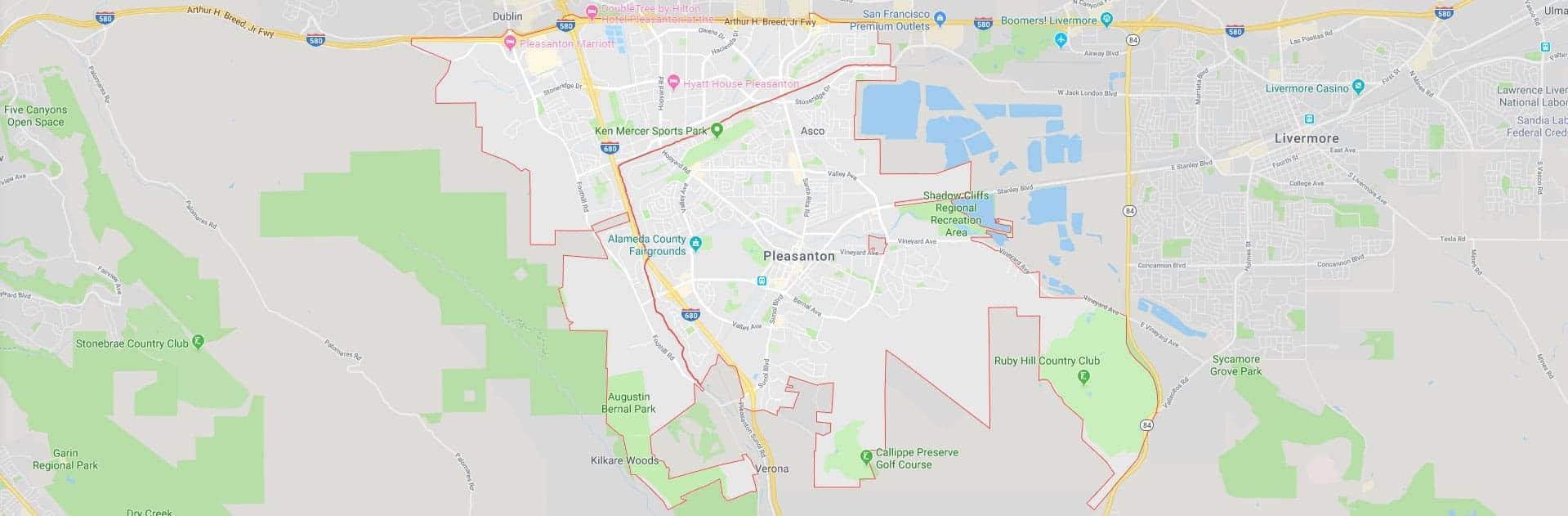 pleasanton-ca-map