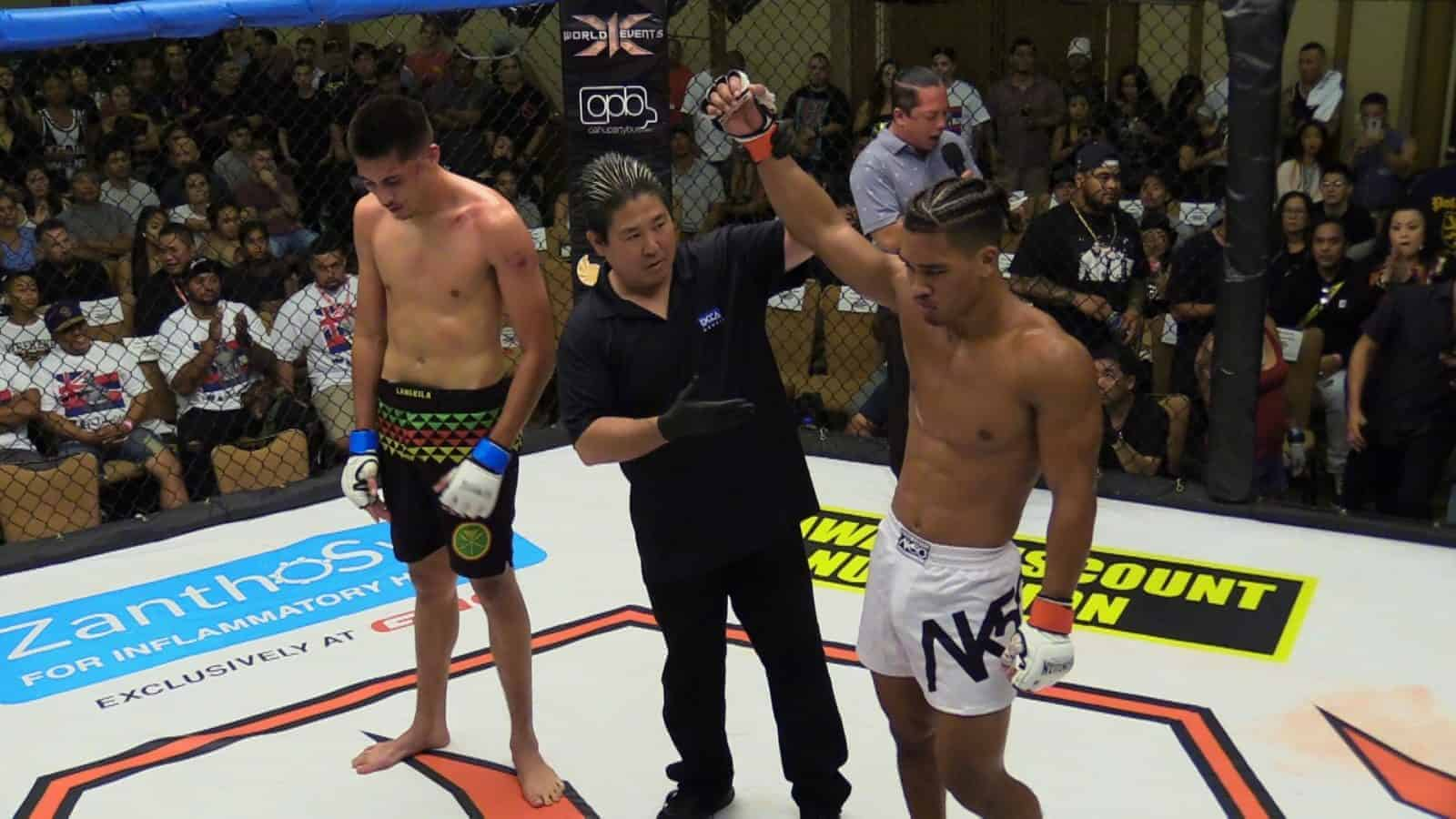 Makoa Cooper defeated Nathan McKenzie via Submission (Tapping Out before Round 2)
