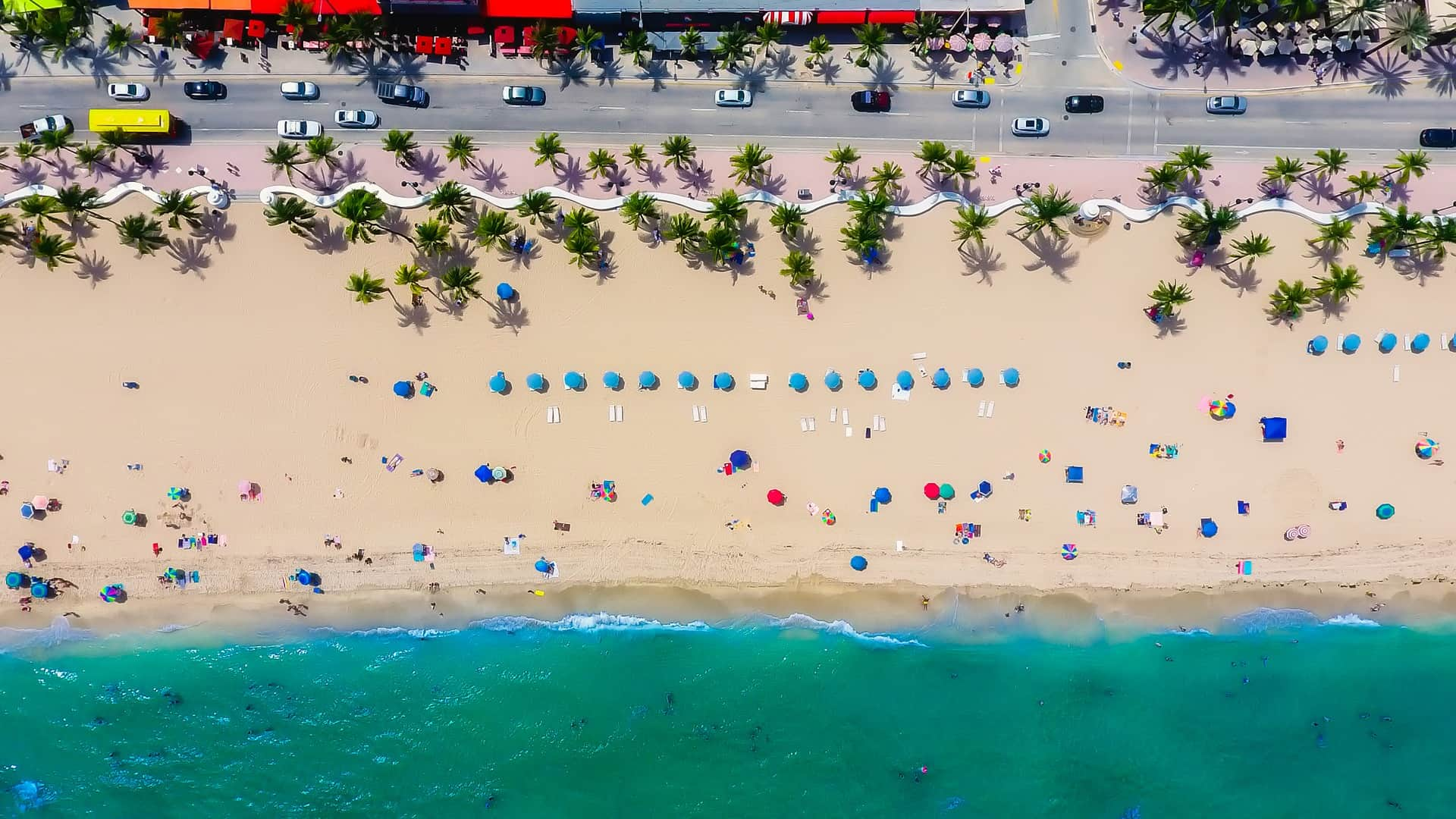 Florida beach from above