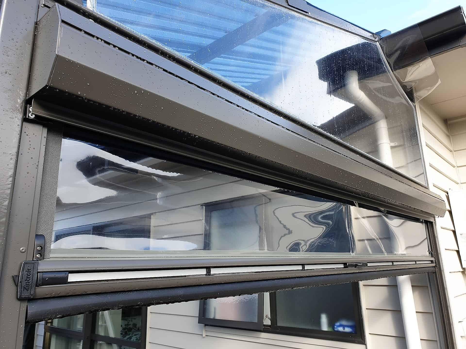 Clear PVC Ziptrak Blinds Auckland