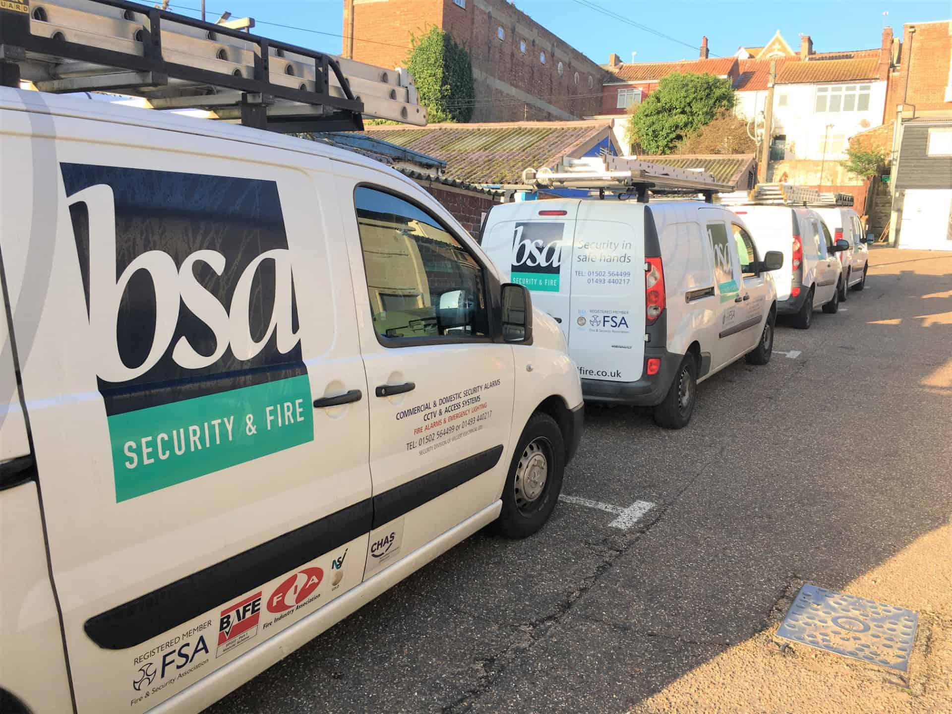 BSA Security and Fire Vans