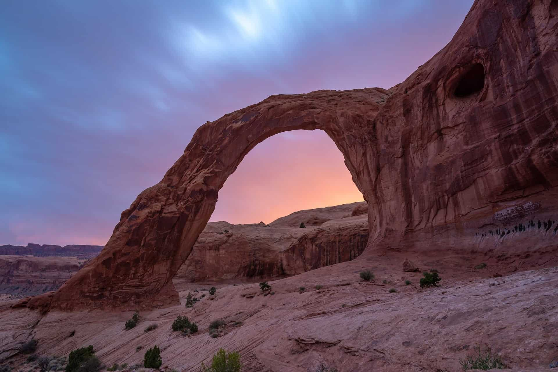 Corona Arch // The best trails, waterfall hikes, campgrounds and more, that made the list of best things to do in Moab outside of the National Parks.