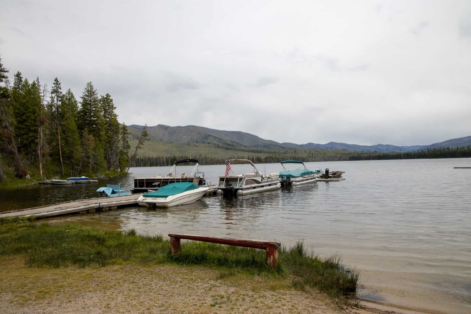 The marina at Warm Lake in Cascade idaho