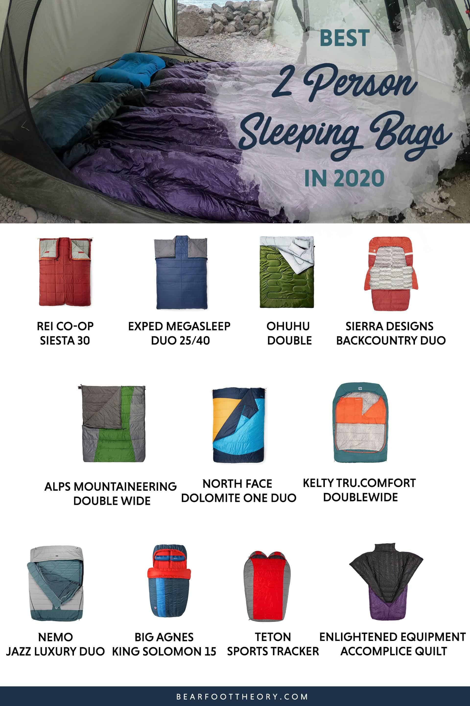 Here are the best double sleeping bags of 2020. Get cozy with these warm, comfortable 2-person sleeping bags ideal for camping and backpacking.