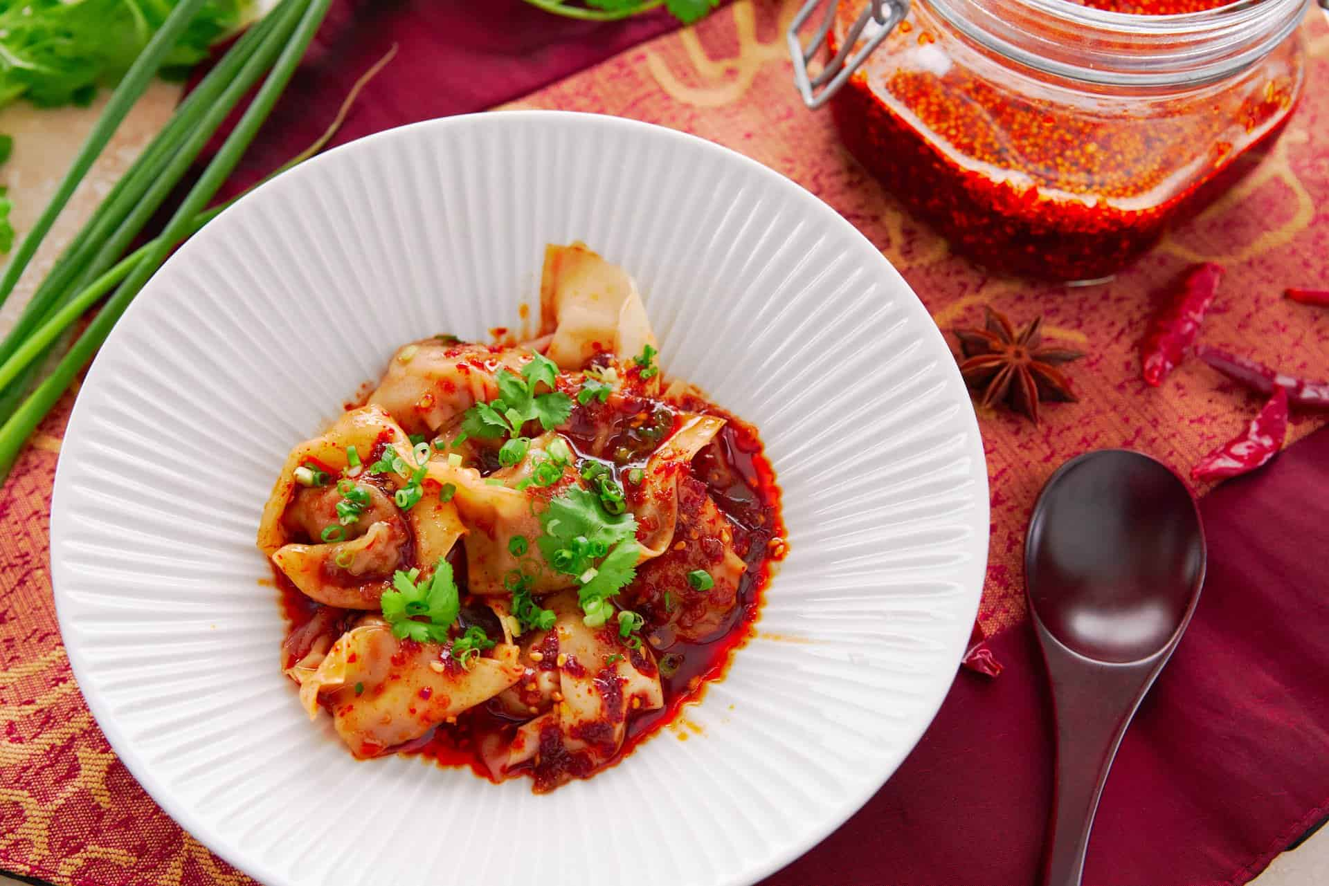 These spicy Sichuan-style wontons in fiery chili oil are easy to make and irresistibly good.
