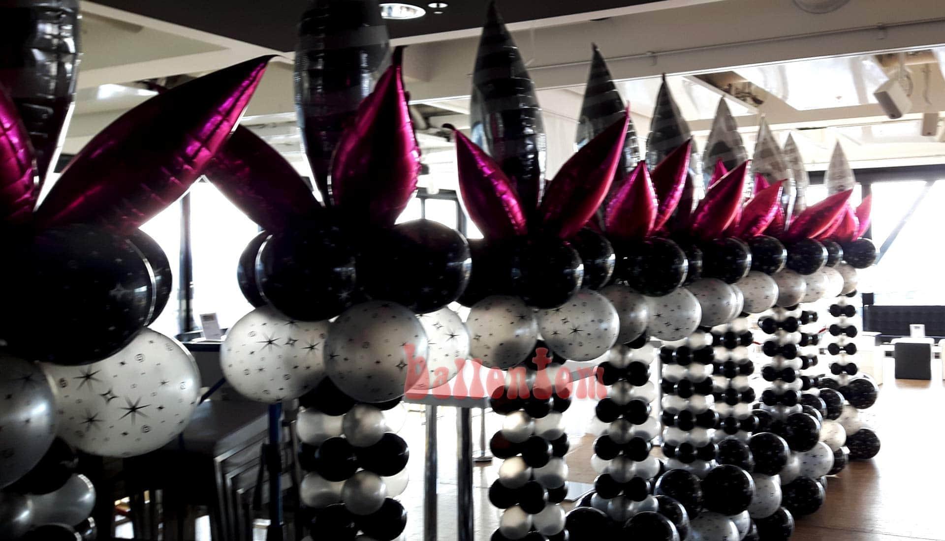 Ballonsäulen für Silvesterparty in München