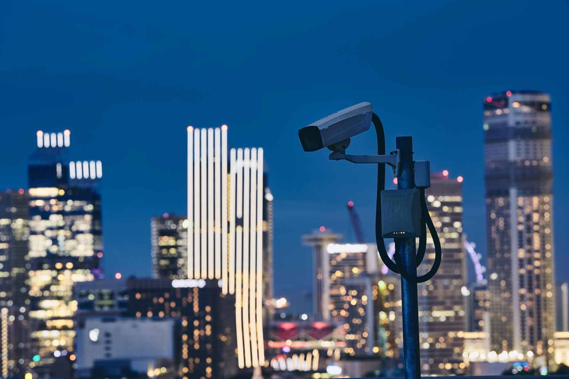 CCTV camera used by a NYC Security Company