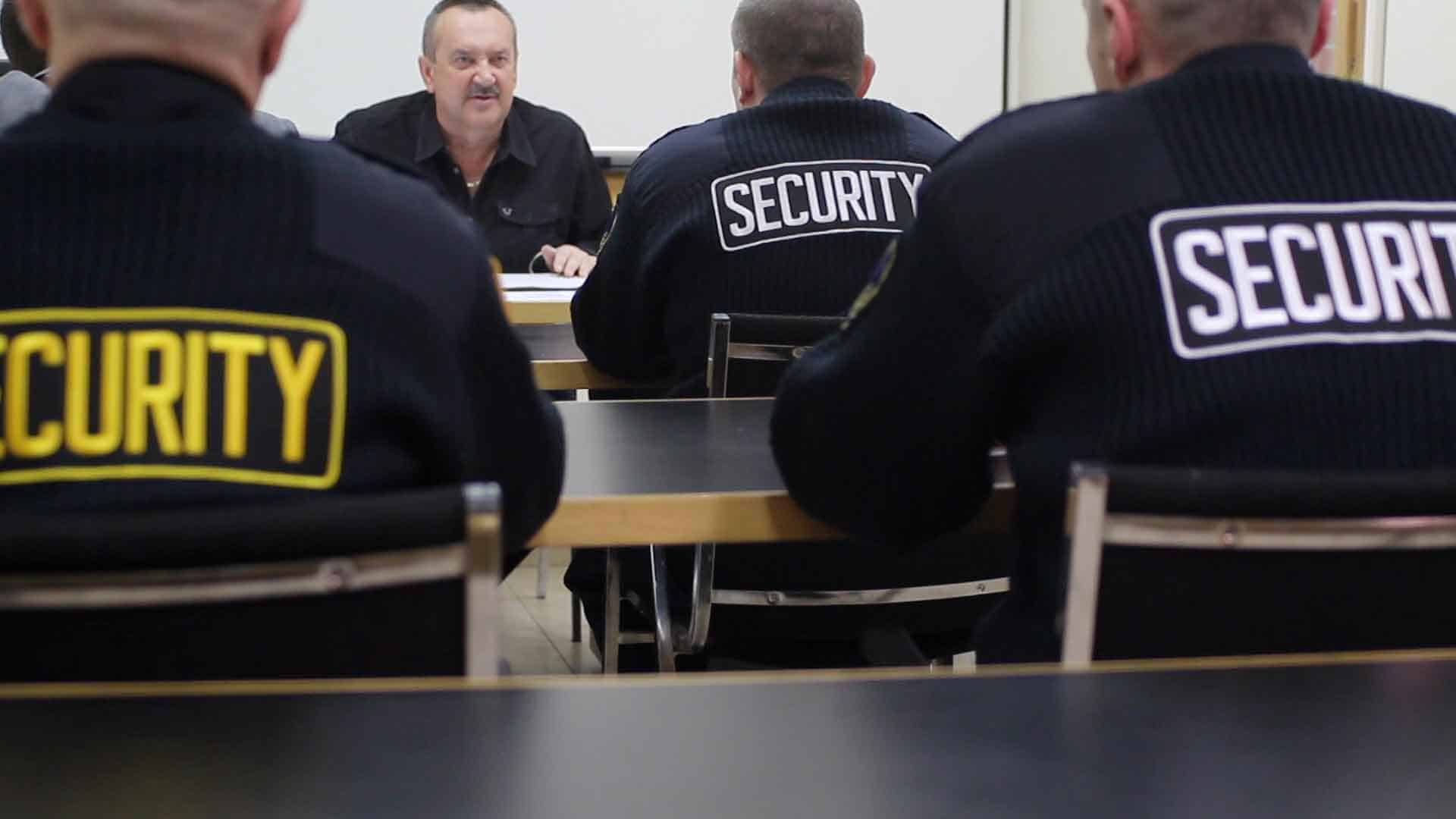 Security Guards in a Training class